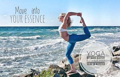 Yoga mit Marie Kliefert in unserer Ostsee Pension